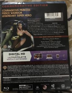 wonder woman: commemorative edition blu ray combo pack review