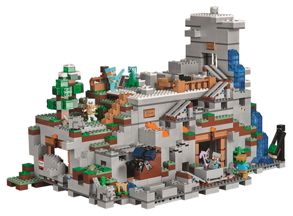 LEGO Minecraft Mountain Cave back