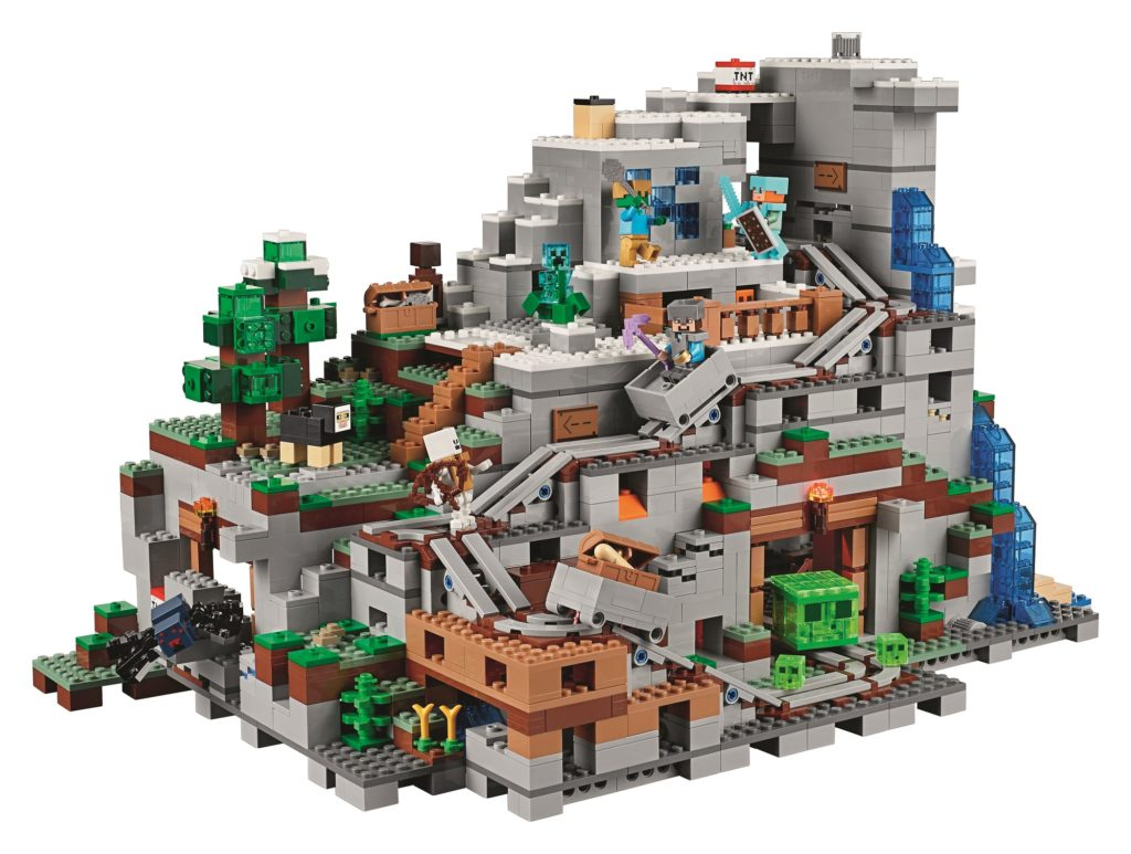 LEGO Minecraft Mountain Cave front