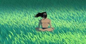Samurai Jack meditating