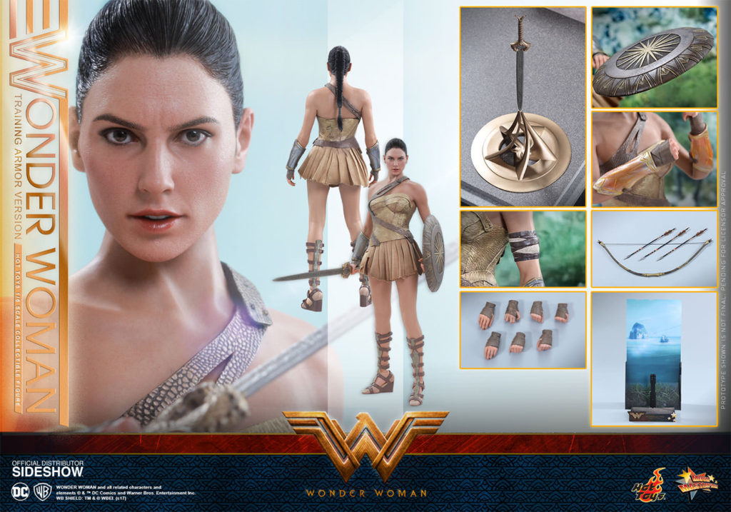 DC Comics Wonder Woman Training Armor Hot Toys Figure