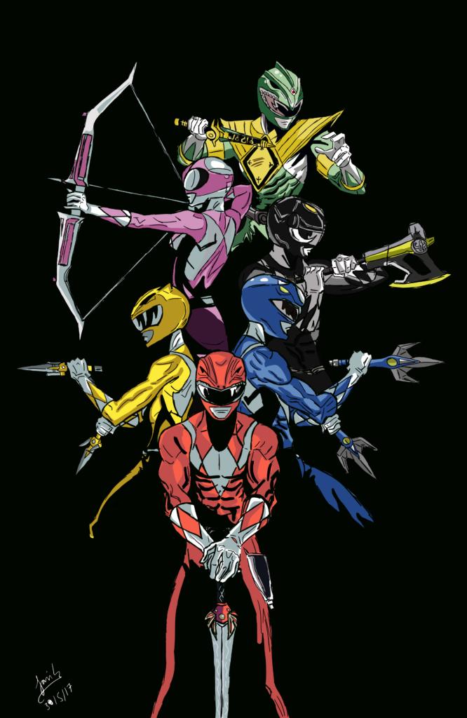 Mighty Morphin Power Rangers fan art