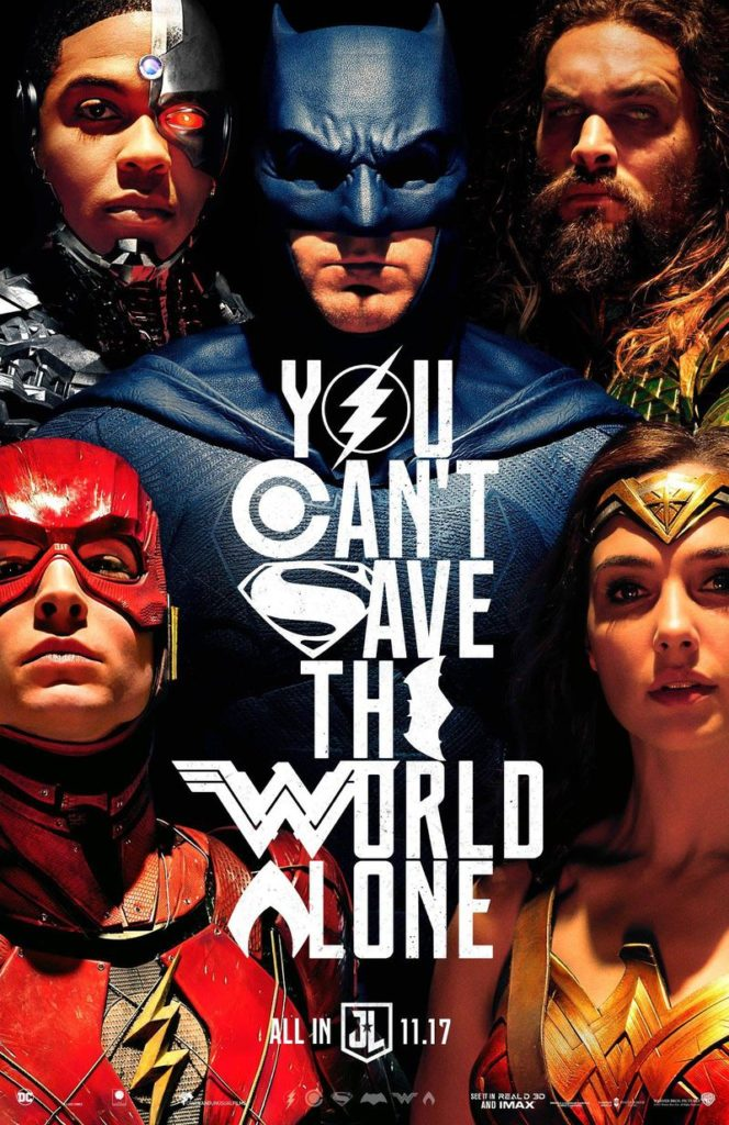 Justice League trailer comic con poster