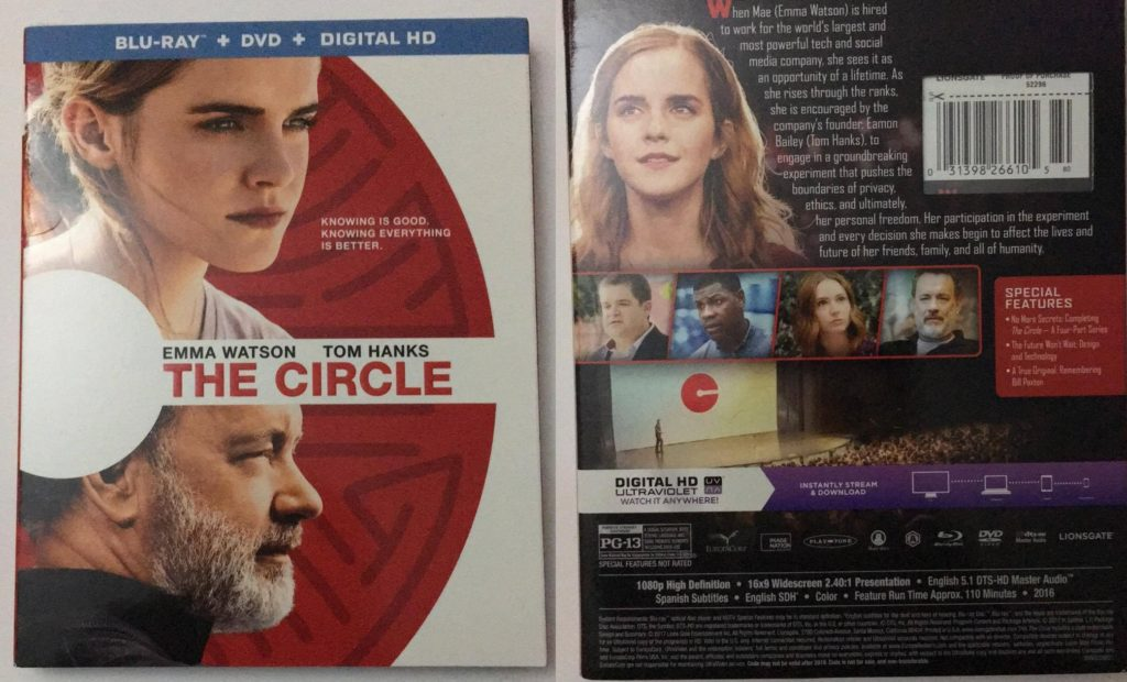 The Circle Front and Back Blu-ray Combo pack DVD review