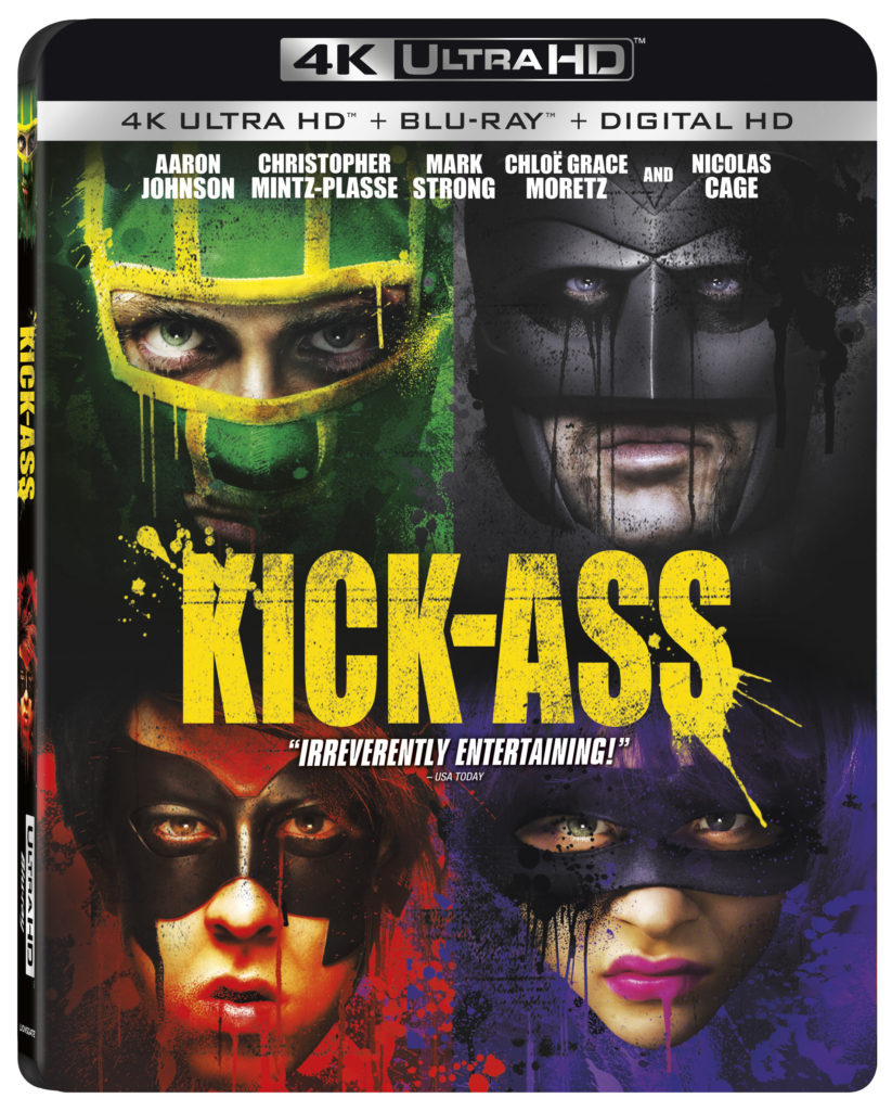 Kick-Ass Lionsgate Home Entertainment 4K Ultra HD combo pack Blu-ray