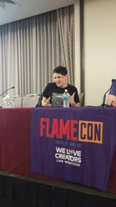 Flame Con 2017 Robin Lord Taylor