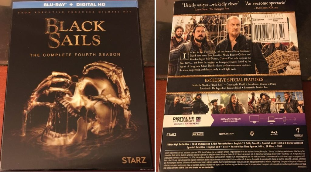 Black Sails Season 4 Blu-ray review DVD