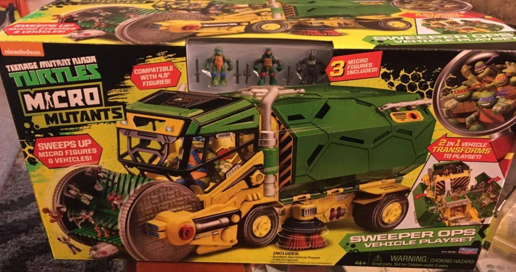 The Micro Mutants Sweeper Ops Vehicle Playset