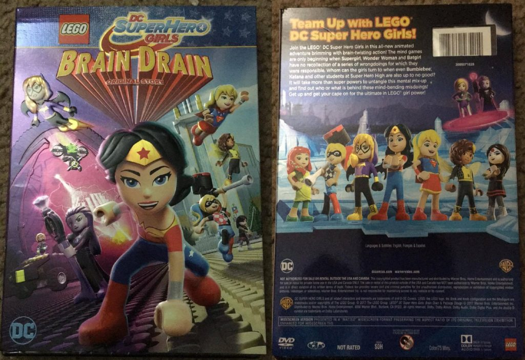 LEGO DC Super Hero Girls Brain Drain DVD Review