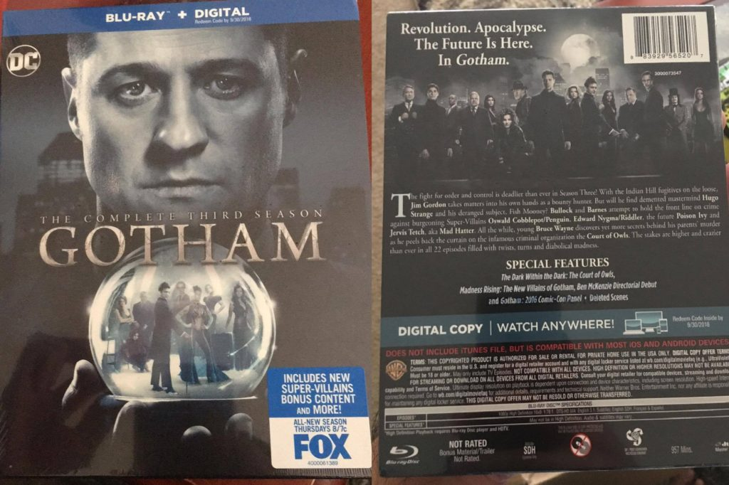 Gotham Season 3 Blu-ray review Warner Bros Home Entertainment