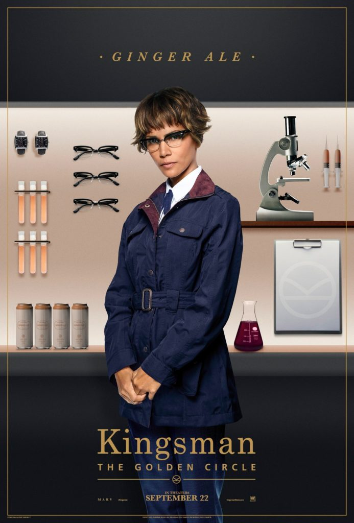 Halle Berry Ginger Ale Kingsman The Golden Circle Character Poster