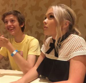 The Gifted at SDCC 2017 Percy Hynes White Natalie Alyn Lind