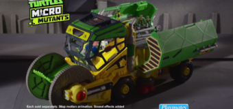 Playmates Toys Release TMNT The Micro Mutants Sweeper Ops Vehicle Playset!