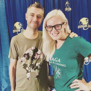 sean gunn tara lynne a geek saga dragon con 2017