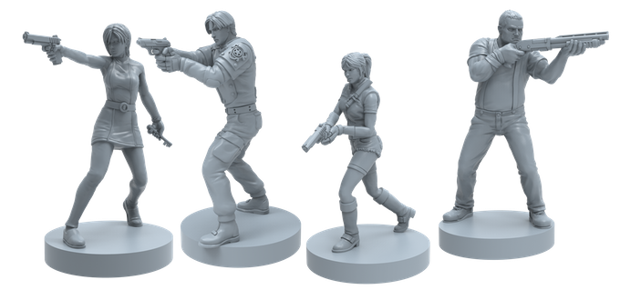 resident evil 2 board game characters capcom claire, ada, leon