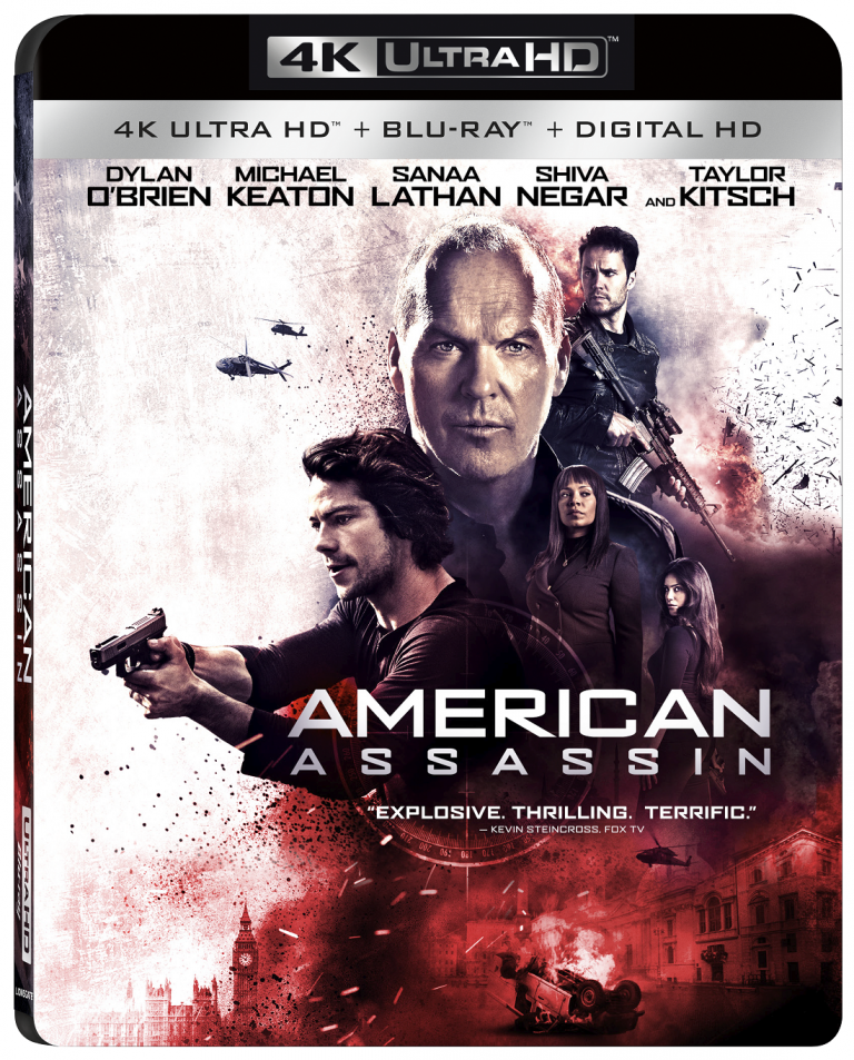 American Assassin 4K Blu-ray DVD release date Lionsgate Home Entertainment
