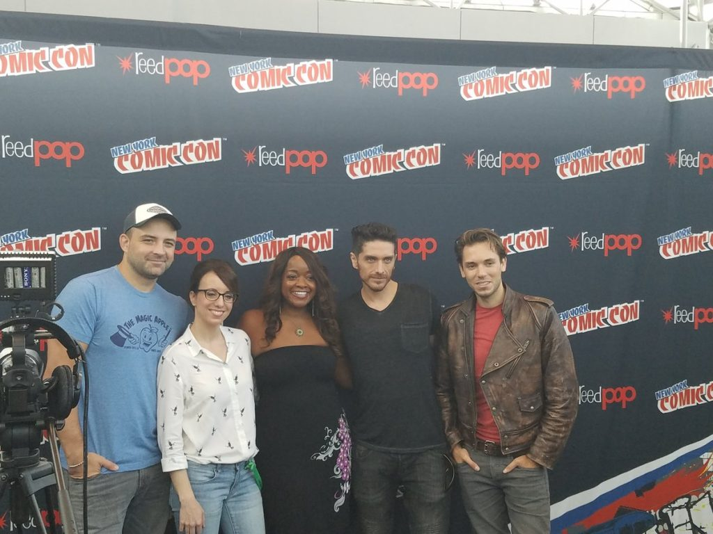 Voltron at NYCC press room