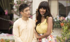 Jiaynu and Tahani in The Good Place.