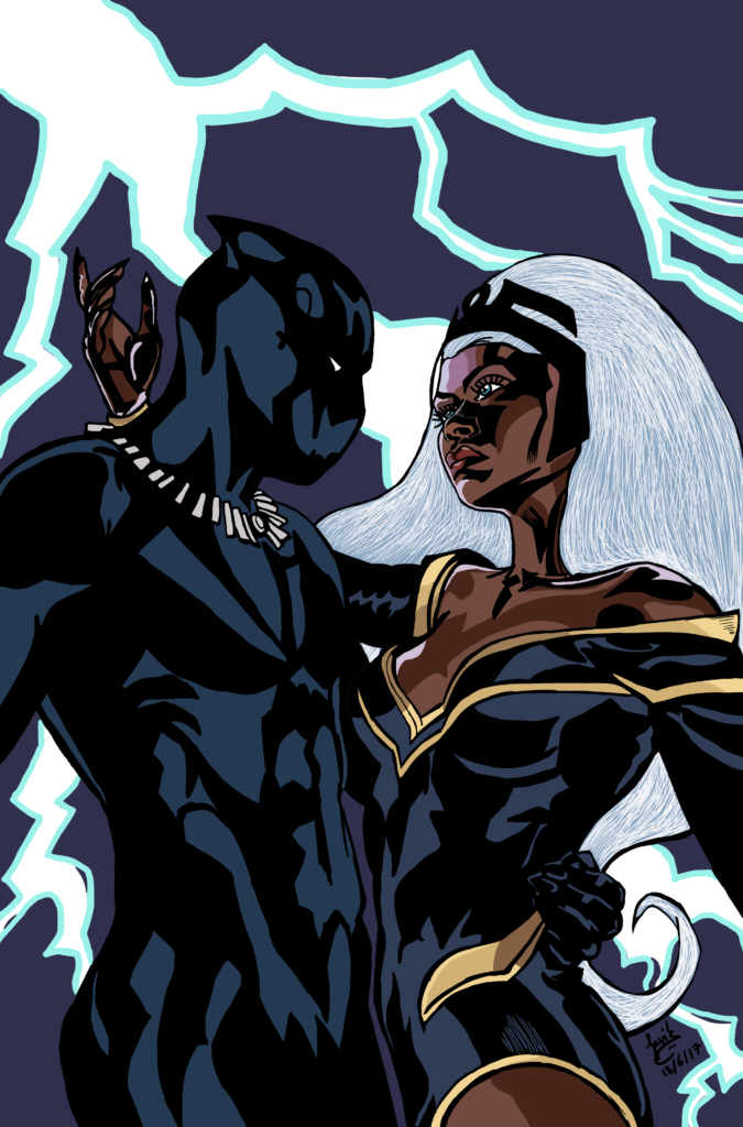Storm and Black Panther Coates Issue 17 fanart
