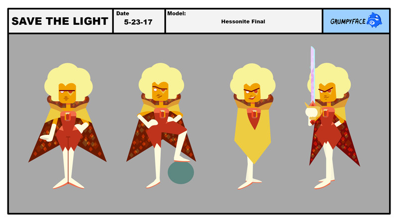 hessonite character design