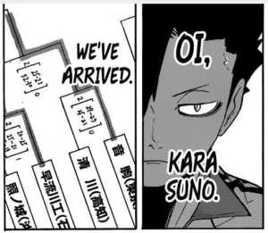 Haikyuu manga Karasuno vs Inarizaki