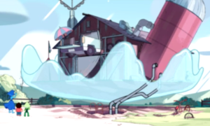 raising the barn steven universe