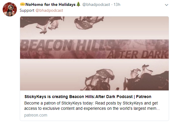 Beacon Hills After Dark Podcast BHAD Patreon StickyKeys