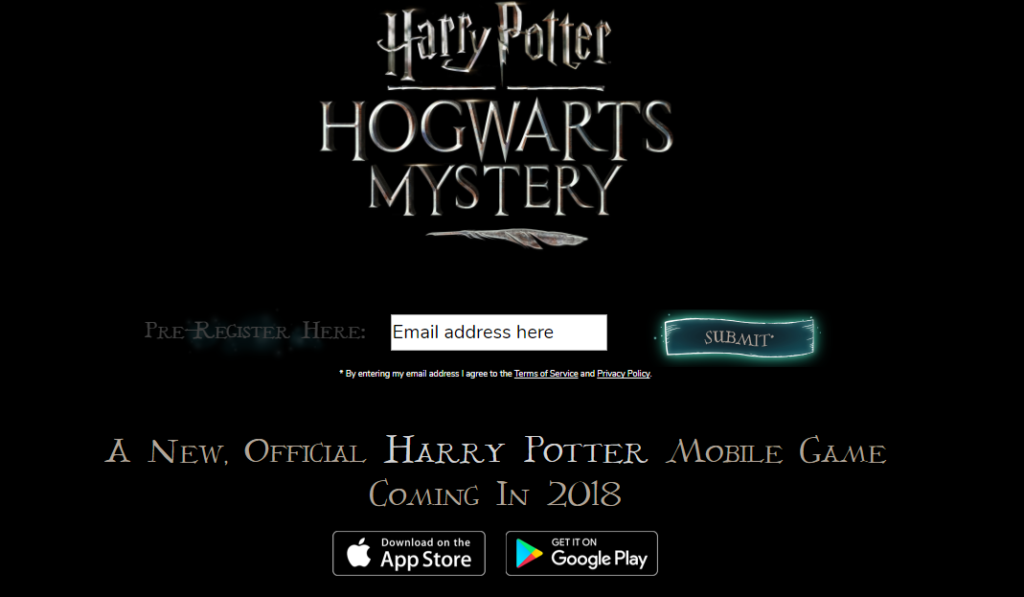 Harry Potter Hogwarts Mystery mobile game website