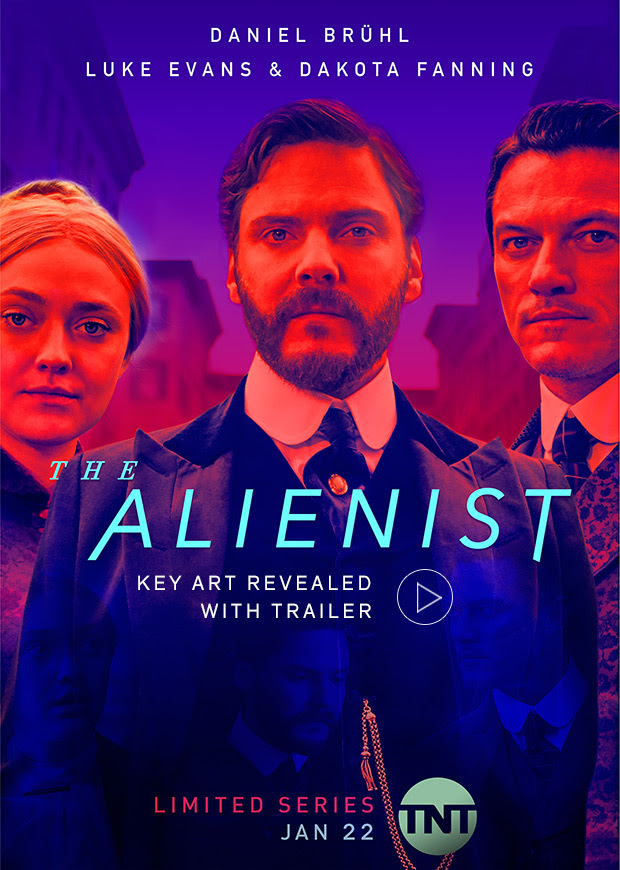 The Alienist key art new trailer TNT Luke Evans Dakota Fanning