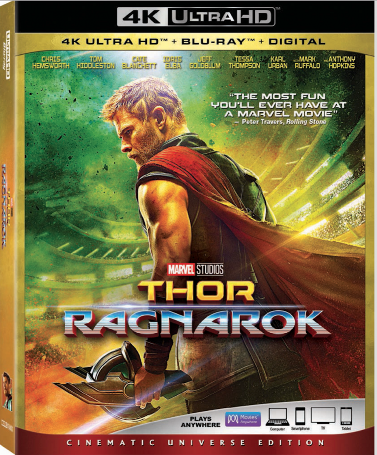 Thor Ragnarok 4K Ultra HD Blu ray DVD release Marvel