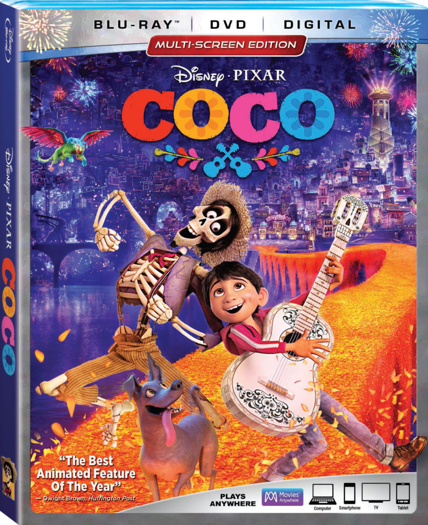 Coco Disney/Pixar 4K Ultra HD, Blu-ray, DVD, Movies Anywhere release