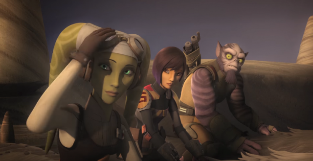 wolves and a door star wars rebels