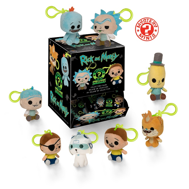Rick and Morty Mystery mini plushes