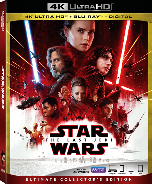 Star Wars The Last Jedi 4K Ultra HD Blu-ray Digital Disney release Lucasfilm