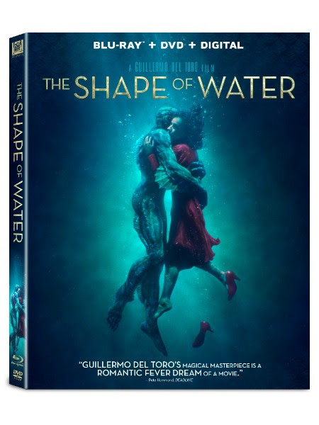 The Shape of Water Blu-ray DVD 4K Ultra HD release del toro