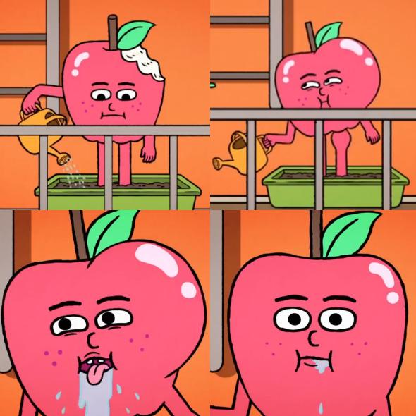 foodiverse apple regrowing himself
