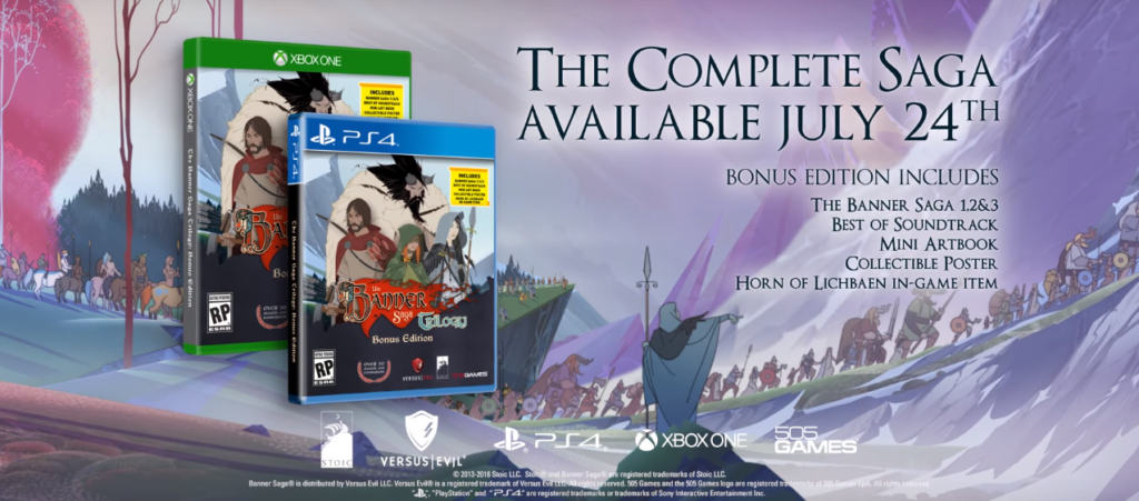 The Banner Saga Bonus Edition 505 Games release