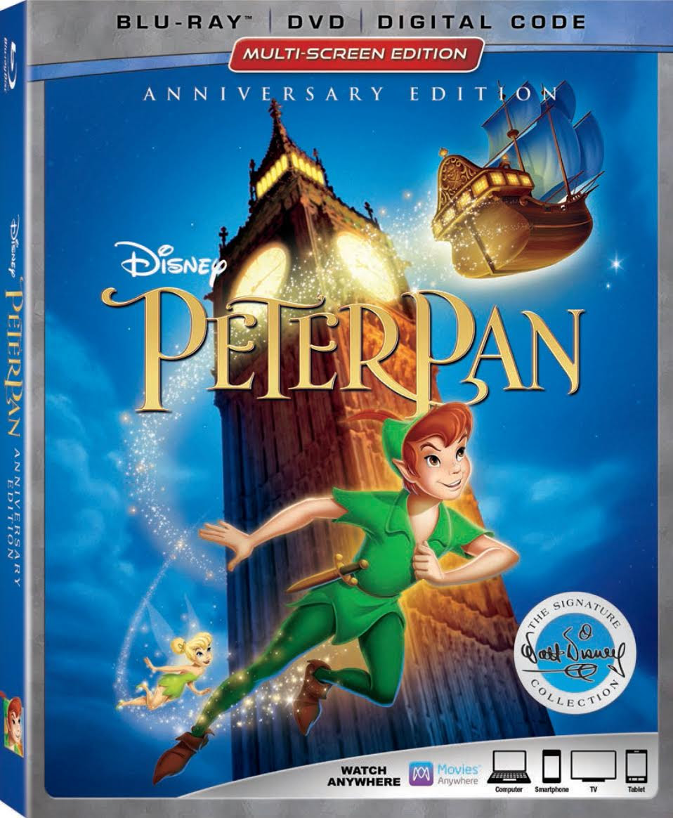 Peter Pan Walt Disney Signature Collection Blu Ray Release This June