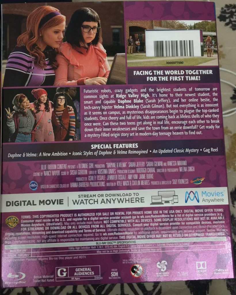 Daphne and Velma Blu-ray DVD review
