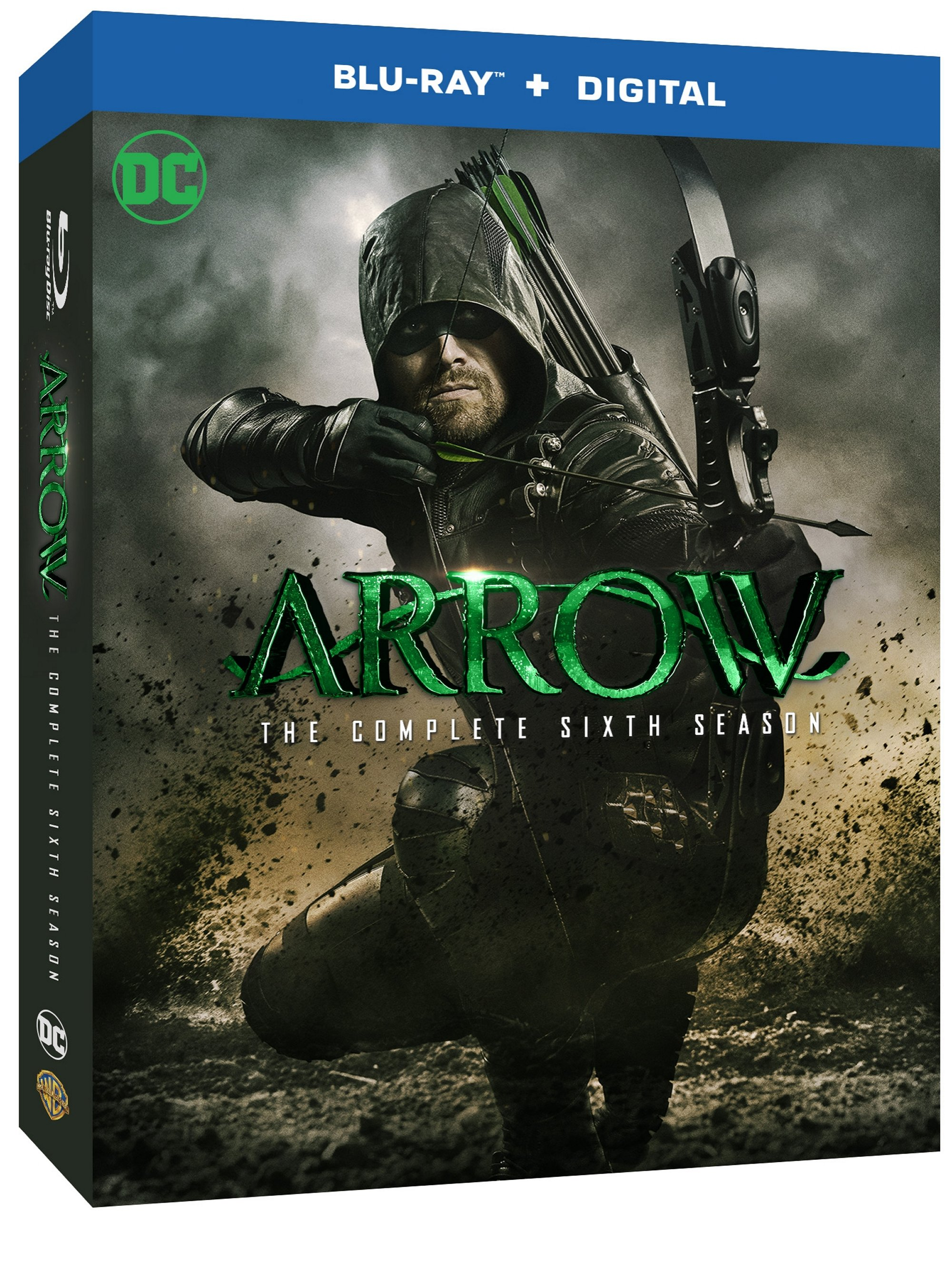 Arrow season six complete blu-ray dvd warner bros release