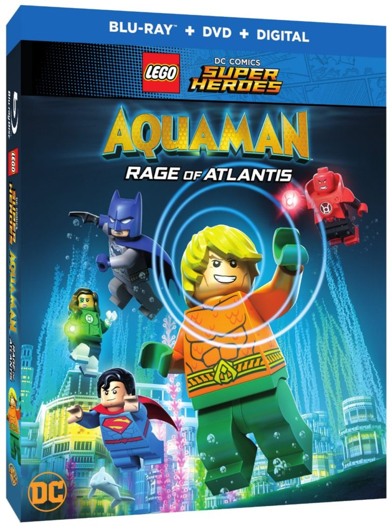Lego DC Comics Super Heroes Aquaman Rage of Atlantis DVD Blu-ray