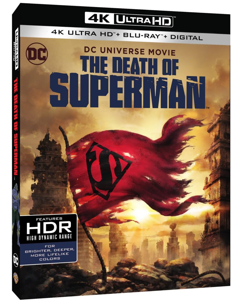 The Death of Superman 4K Ultra HD Blu-ray Digital DVD Warner Bros release