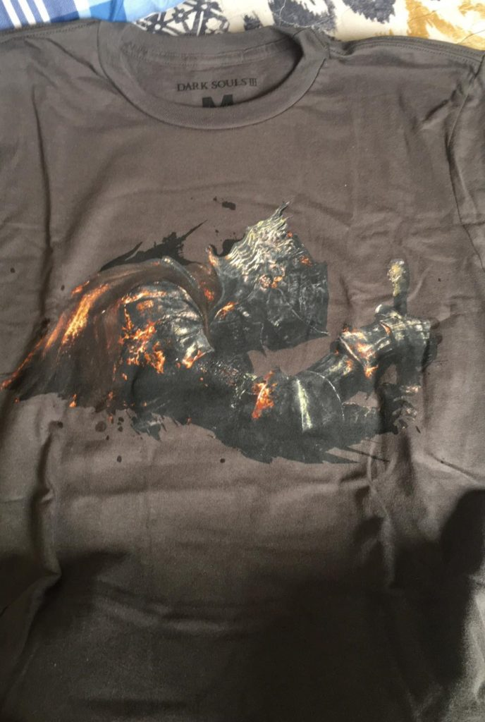 Dark Souls III shirt logo Loot Gaming April The Hunt