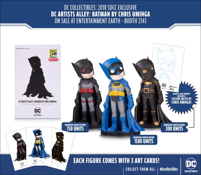 SDCC 2018 Batman Vinyl Figures exclusives Chris Uminga