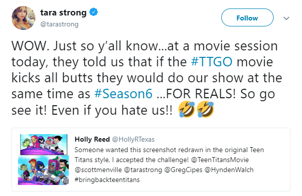 Teen Titans Season 6 Tara Strong