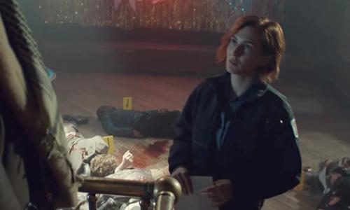 Wynonna Earp season 3 trailer Nicole at the crime scene