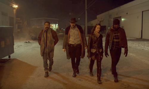 Wynonna Earp season 3 trailer Jeremy, Doc, Wynonna, and Dolls power walk