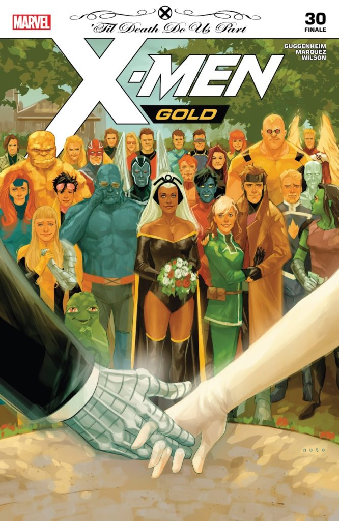 X-Men Gold Issue 30 Rogue and Gambit wedding
