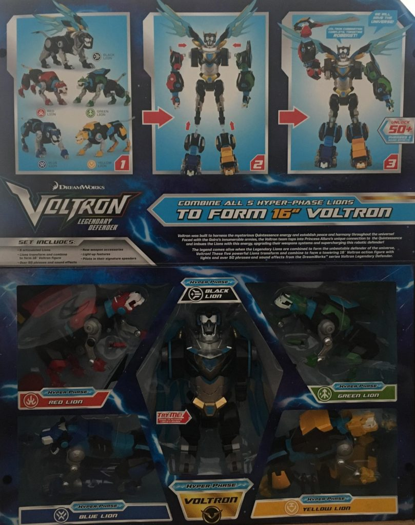 Legendary Defender Hyper-Phase Voltron 5-Piece Gift Set Action Figure – SDCC 2018 Previews Exclusive