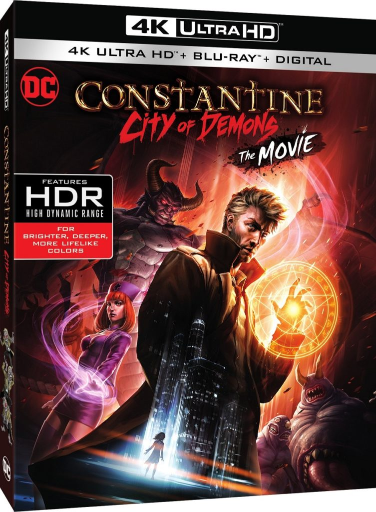 Constantine City of Demons Blu-ray Ultra HD Blu-ray Release Warner Bros